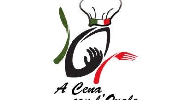 """il logo dell'iniziativa """"a Cena con l'Ovale"""""""