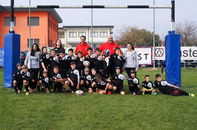 La squadra Under 10 di Rugby Mirano per la stagione sportiva 2017/2018. Foto Claudio Castelli.