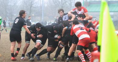 Un'azione di gioco dell'Under 18 miranese contro Vicenza giocata quindici giorni fa. Foto Mirna Cestaro.