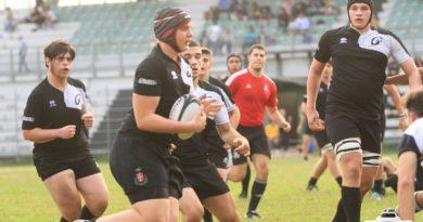 """un'immagine di repertorio ritrae un'azione di gioco dell'Under 18 di Rugby Mirano al torneo """"Cappe"""" giocato a settembre 2017. Foto Mirna Cestaro."""