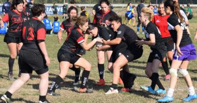 Un'azione di gioco della squadra femminile di Mirano al raggruppamento di Villorba del 01.11.2017