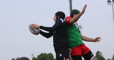 Un'azione di gioco da Mirano-Rubano di novembre scorso. Foto Navin Cibin.