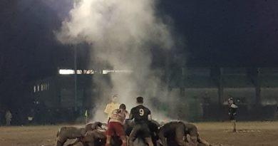 Le mischie Under 18 di Mirano e Casale si fronteggiano nel freddo incontro disputato oggi 9 dicembre. Foto Mirna Cestaro.