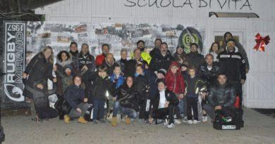 """I partecipanti al progetto """"Genitori in Gioco"""" da cui è originata la prima squadra al Tocco di Rugby Mirano. Foto: Barbara Busetto."""