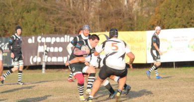In un'immagine di repertorio, un'azione di gioco di Rugby Mirano. Foto Navin Cibin.
