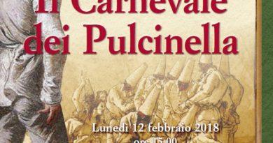 """La locandina del """"Carnevale dei Pulcinella 2018""""."""