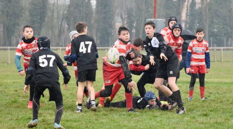 Un'azione di gioco dell'Under 12 durante il raggruppamento di Casale sul Sile del 11 marzo. Foto Doria.