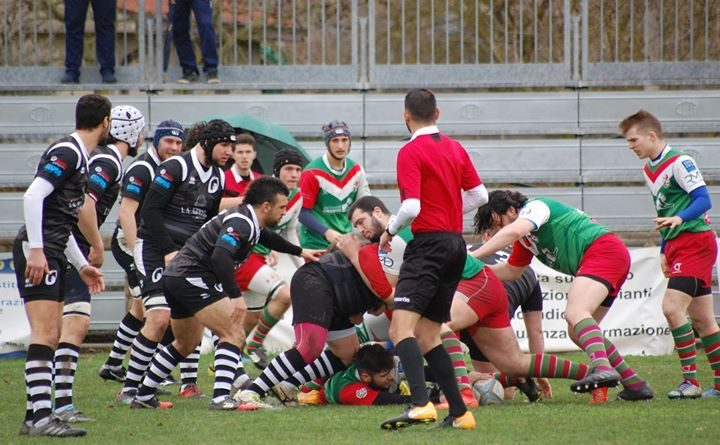 Un'azione di gioco da Roccia Rugby Rubano vs Rugby Mirano del 18.03.2018. Foto: Carly Naggi.