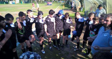 L'Under 14 di Rugby Mirano in uno scatto di Stefano Baldassa.