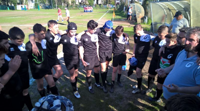 L'Under 14 di Rugby Mirano in uno scatto di Stefano Baldassa.
