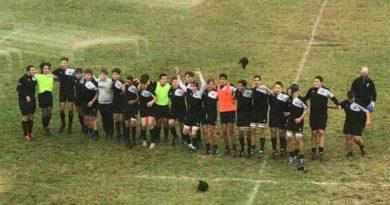 i meritati festeggiamenti dell'Under 16 di Rugby Mirano 1957 Foto: Katia Manente