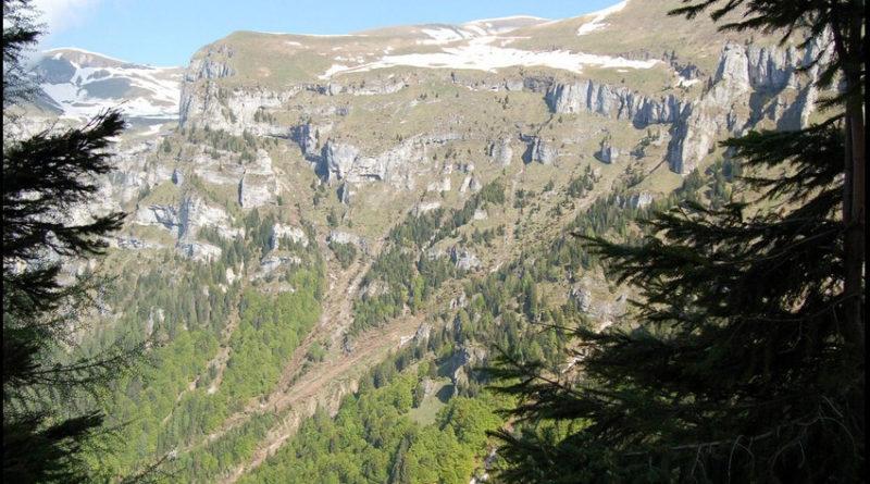 il panorama dal percorso che porta al Rifugio Dal Piaz