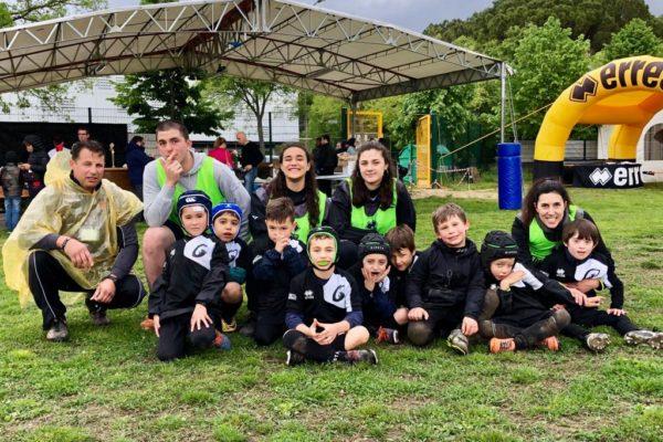 l'Under 6 del Mirano Rugby, partecipante al secondo torneo Old Wild West